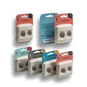 Die naturbelassene Optik mit bunten Kartonträger für Neuroth, die ihre hochwertigen und sensiblen Geräte mit dieser Entwicklung auf nachhaltige Weise verpacken und schützen können.